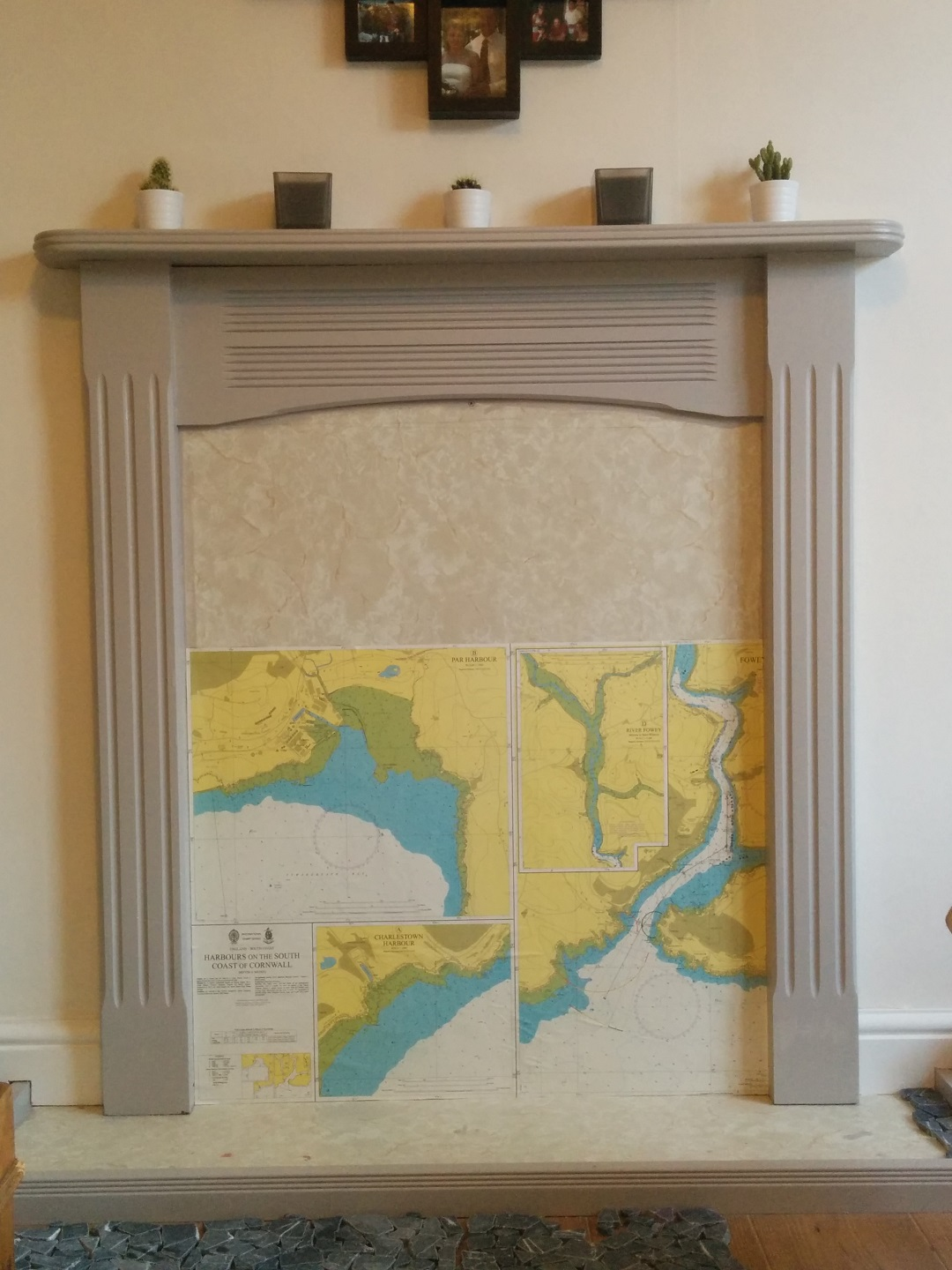 DIY-Blocked-Fireplace-half-finished